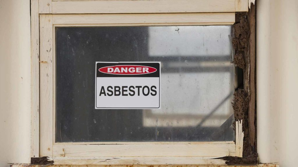 asbestos warning window